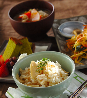 タケノコのシンプルご飯の献立