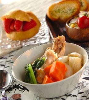 あったか鶏とカブのスープ煮の献立