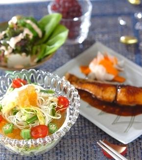 キラキラ素麺の献立