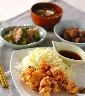 鶏肉の天ぷらの献立