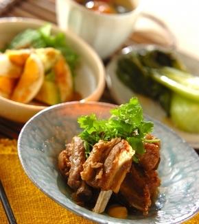 スペアリブの中華煮の献立