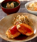 「鮭と豆腐のハンバーグ」の献立
