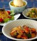 「鮭と野菜のみそ炒め」の献立