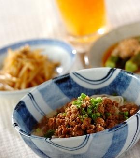 坦々素麺の献立