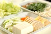 米団子入り鶏水炊きの下準備3