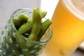ゆで枝豆・ビール