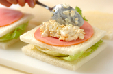レンジ卵サンドトーストランチの作り方5