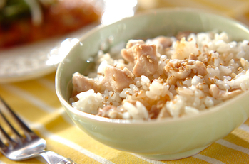 鶏の塩炊き込みご飯