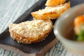 揚げタケノコのチーズまぶし