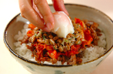 豚肉納豆キムチ丼の作り方2