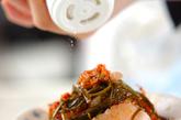 ホタテのキムチ昆布和えの作り方1
