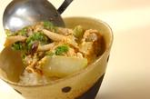 白菜の卵とじ丼の作り方3