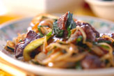 レバーと野菜の炒め物