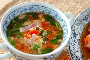 トマトとふんわり卵のスープ