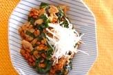 納豆・豚ニラ炒め