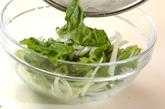 レタスとジャコのサラダの作り方1