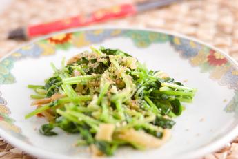 豆苗とザーサイのサラダ