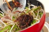 モヤシとピーマンのソース炒めの作り方2
