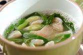 ホタテと青ネギの卵とじの作り方1