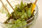 レタスのジャコサラダの作り方1