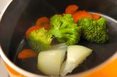 蒸し野菜のユズ風味の作り方2