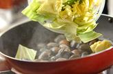 キャベツとアサリのペペロンチーノ風の作り方1