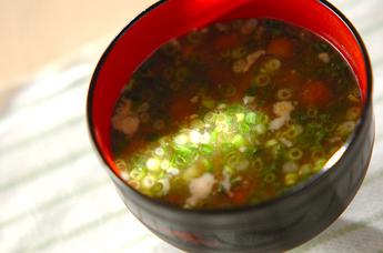 納豆とナメコのみそ汁