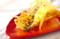 バジル風味のカリカリチーズ