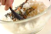 芽ヒジキと油揚げの煮物+混ぜ巻き寿司の作り方5