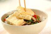 揚げ豆腐の丼の作り方3