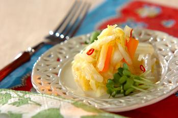 白菜とニンジンの甘酢炒め