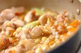 鶏肉と大豆の炒り煮の作り方2