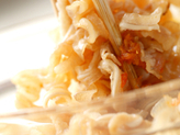 ミミガーの辛ピーナッツ和えの作り方2
