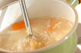 餅入り白みそ汁の作り方2