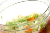 レンジ野菜のマスタード和えの作り方1