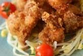 揚げ鶏とたっぷりモヤシ