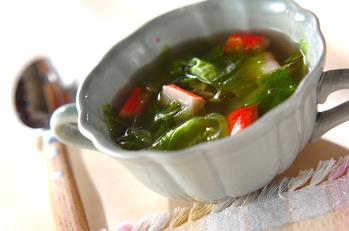 レタスのジンジャースープ
