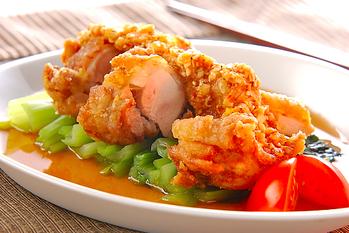 揚げ鶏の辛ネギダレ