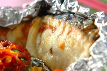 鮭のみそチーズ焼き
