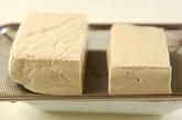 豆腐の蒸し米団子の下準備1