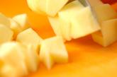 パイではさんだリンゴのカラメリゼ バニラアイス添えの作り方1