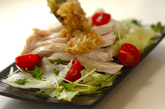 たっぷりネギダレゆで鶏の作り方3