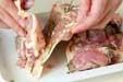 鶏もも肉のフライパン焼の下準備1
