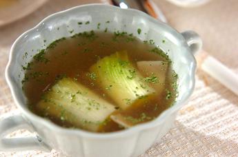 下仁田ネギのスープ