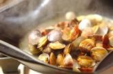 パエリア風土鍋ご飯の作り方1