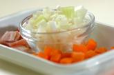 大豆とトマトのスープの作り方1