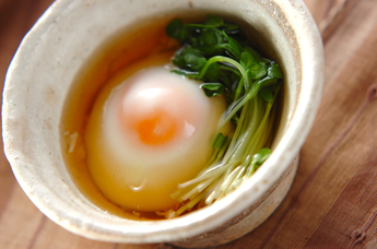 レンジで簡単温泉卵