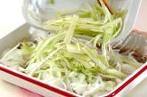 たっぷり野菜のカツオ漬け丼の作り方3