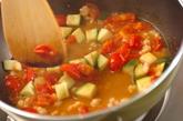 くるくるパスタとフレッシュトマトソースの作り方3
