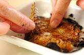 アジの干物トロロ麦ご飯の下準備1